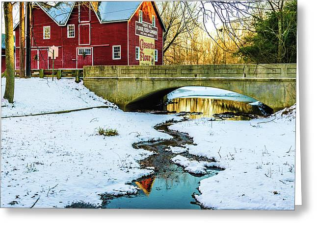 Greeting Card featuring the photograph Kirby's Mill Landscape - Creek by Louis Dallara