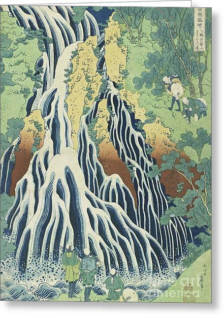 Kirifuri Falls Near Mount Kurokami In Shimotsuke Province Greeting Card