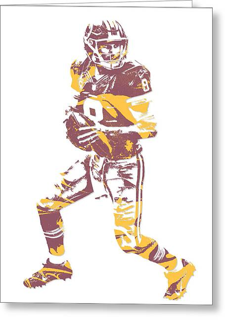 Kirk Cousins Washington Redskins Pixel Art 1 Greeting Card