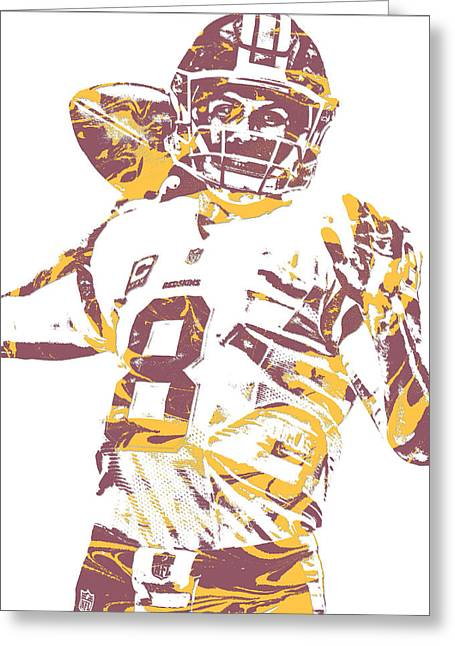Kirk Cousins Washington Redskins Pixel Art 10 Greeting Card
