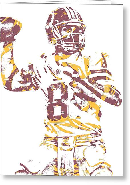 Kirk Cousins Washington Redskins Pixel Art 11 Greeting Card