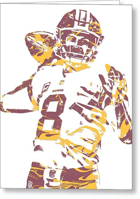 Kirk Cousins Washington Redskins Pixel Art 2 Greeting Card