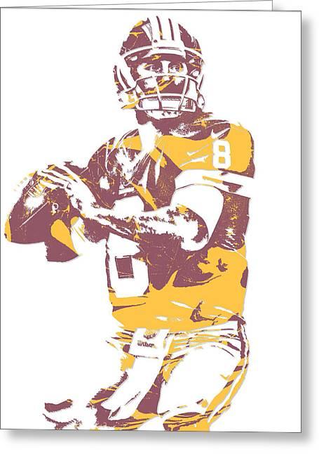 Kirk Cousins Washington Redskins Pixel Art 3 Greeting Card