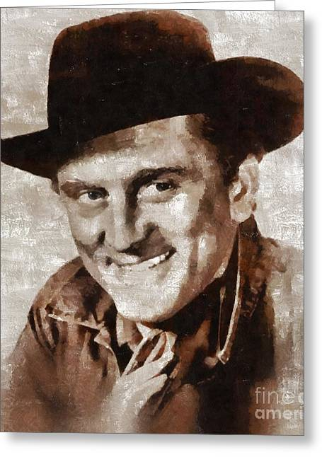 Kirk Douglas By Mary Bassett Greeting Card