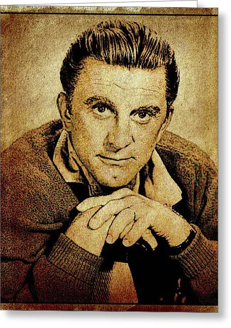 Kirk Douglas Hollywood Actor Greeting Card by Esoterica Art Agency