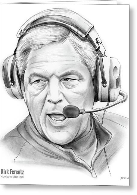 Kirk Ferentz Greeting Card