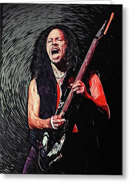 Kirk Hammett Greeting Card
