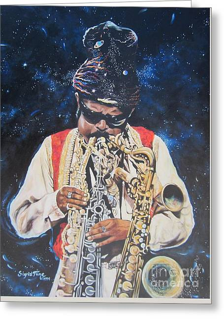 Blue Cat Productions.  Rahsaan  Roland Kirk  Greeting Card