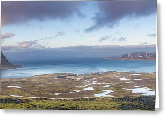 Kirkjufell And Grundarfjordur From On High Greeting Card