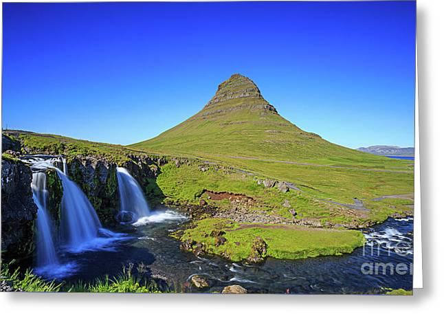 Greeting Card featuring the photograph Kirkjufell Iceland by Edward Fielding