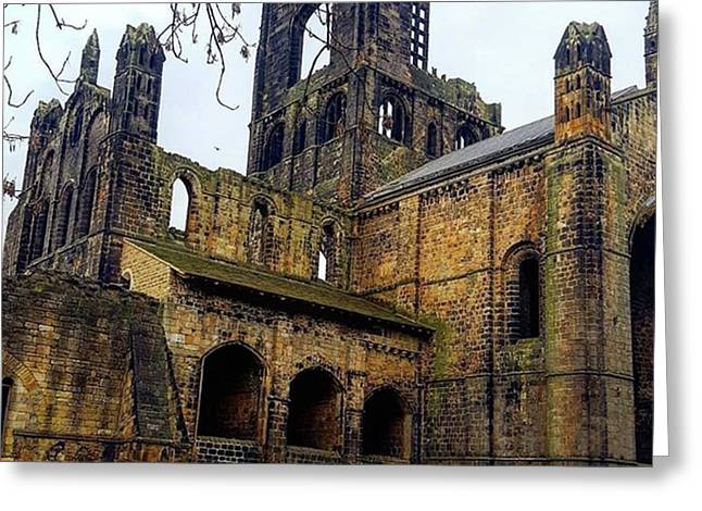 #kirkstallabbey #leeds How's Your Bank Greeting Card by Dante Harker