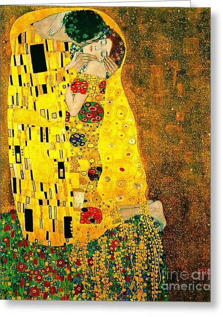 Kiss 1907 Greeting Card