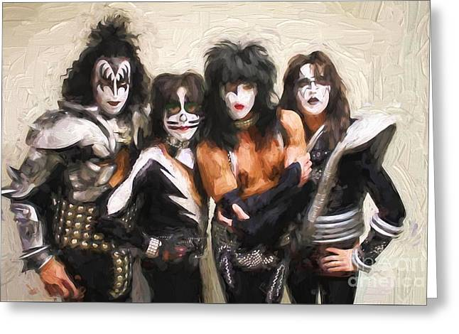 Kiss Band Greeting Card by Steven Parker