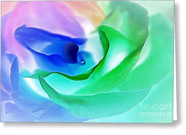 Kiss From A Rose Greeting Card by Krissy Katsimbras