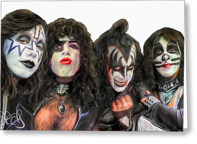 Kiss Greeting Card by Mark Spears