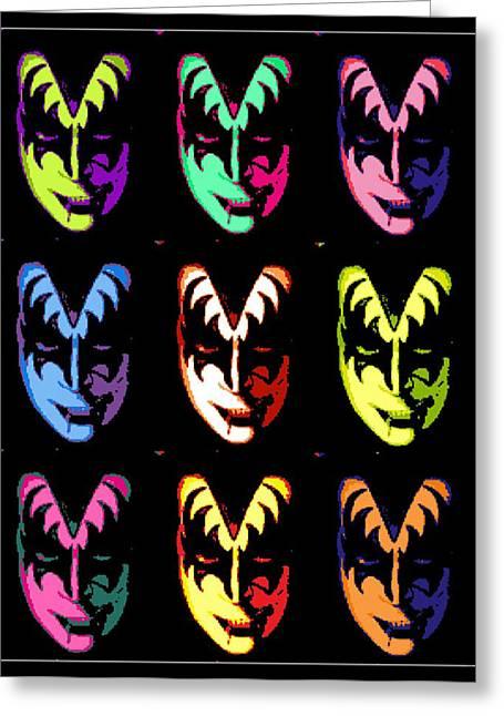 Kiss Pop Greeting Card by Paul Van Scott