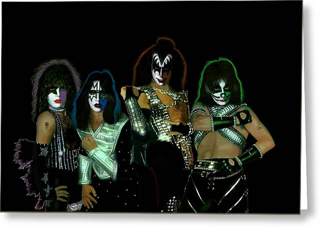 Kiss Solos Best Of Greeting Card