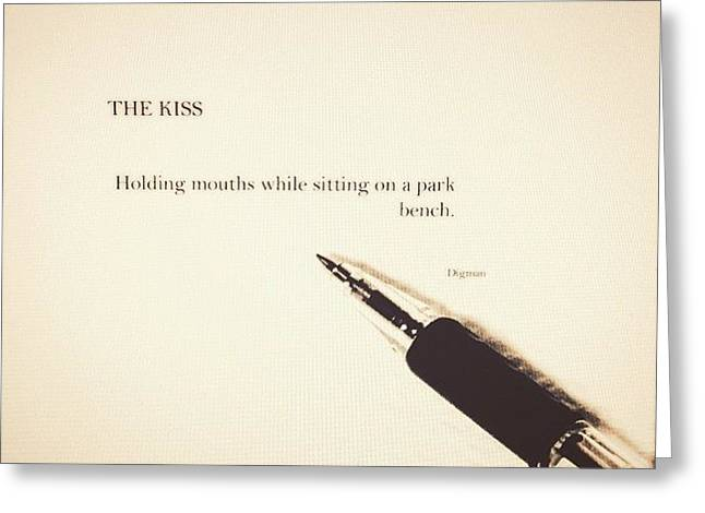 The Kiss Greeting Card by Jacob Smith