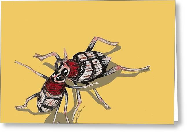 Kissing Weevils Greeting Card