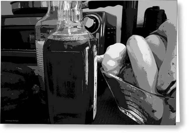 Kitchen Clutter Greeting Card by Andrew Cravello