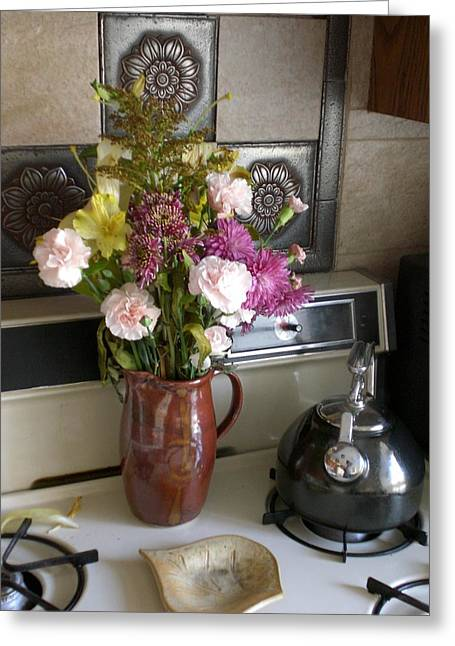 Kitchen In The Morning Greeting Card
