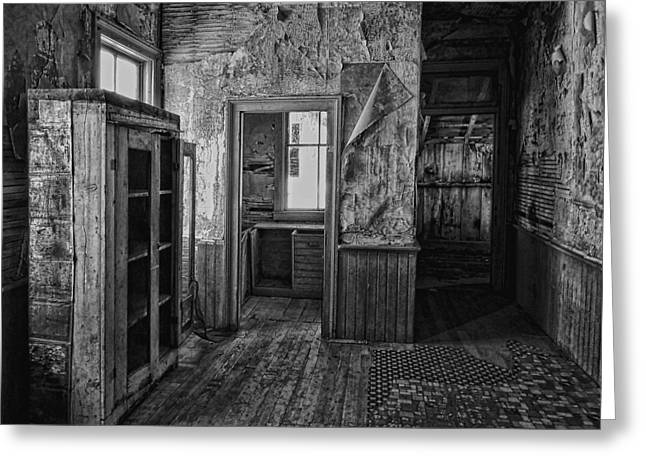 Miners Ghost Greeting Cards - Kitchen Interior - Bannack Ghost Town -  Montana Greeting Card by Daniel Hagerman