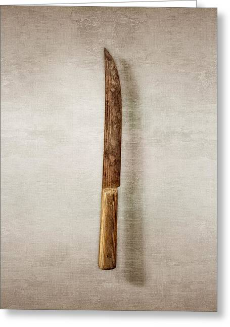Kitchen Knife Greeting Card by YoPedro
