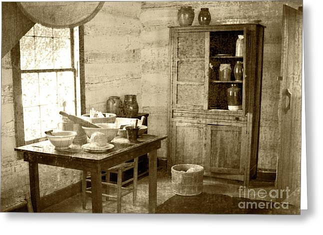 Greeting Card featuring the photograph Kitchen by Pete Hellmann