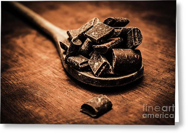 Kitchen Scoop On Chocolate Greeting Card by Jorgo Photography - Wall Art Gallery