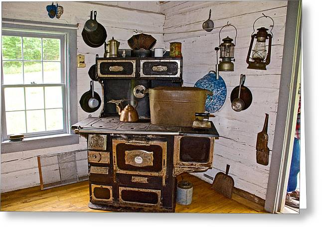 Kitchen Stove In Old Victoria-michigan  Greeting Card