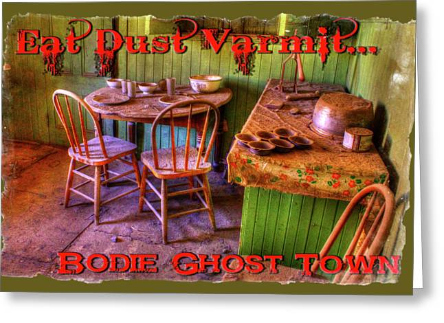 Kitchen Table Bodie California Greeting Card