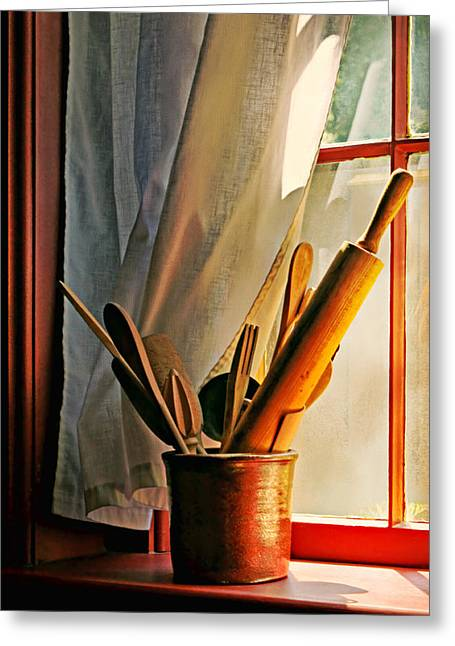 Kitchen Utensils - Window Greeting Card by Nikolyn McDonald