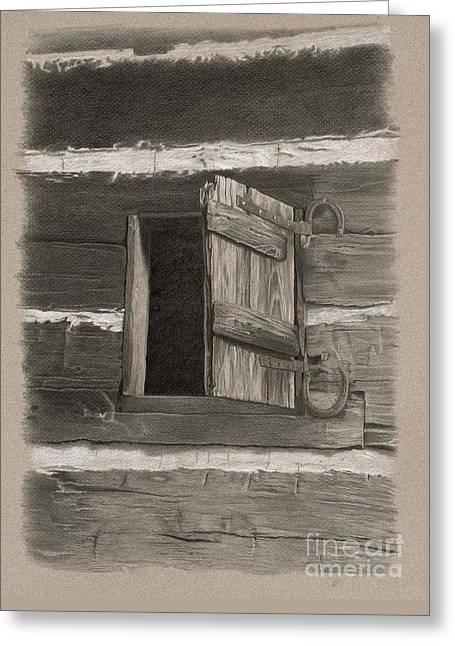 Kitchen Window Greeting Card by Nancy Hilgert