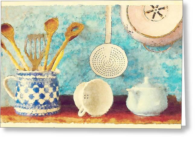 Kitchenware Greeting Card by BONB Creative