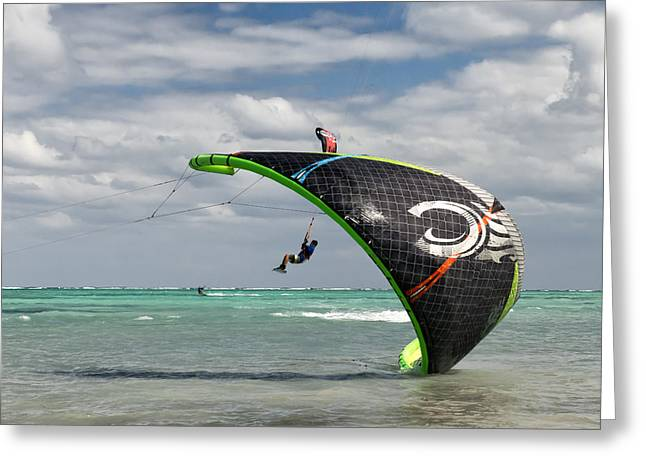 Kite Board Competition Greeting Card by James Berry