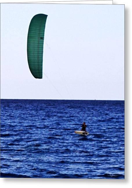 Kite Board Greeting Card