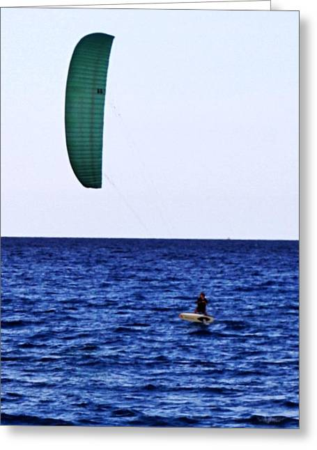 Kite Board Greeting Card by John Wartman