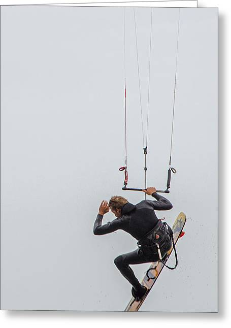 Kite Boarding 2 Greeting Card