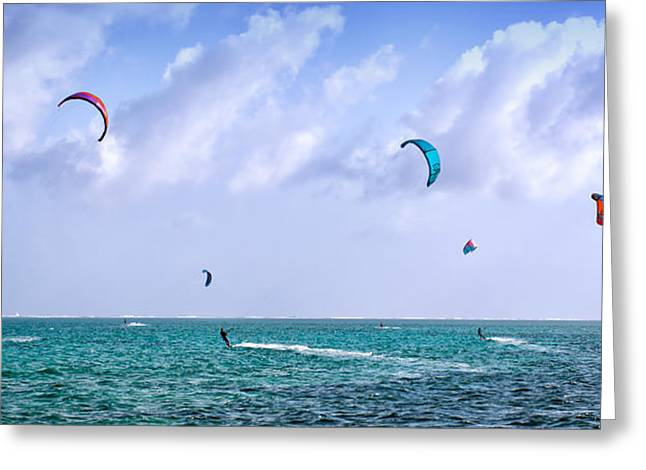 Kite Boards Five Greeting Card by James Berry