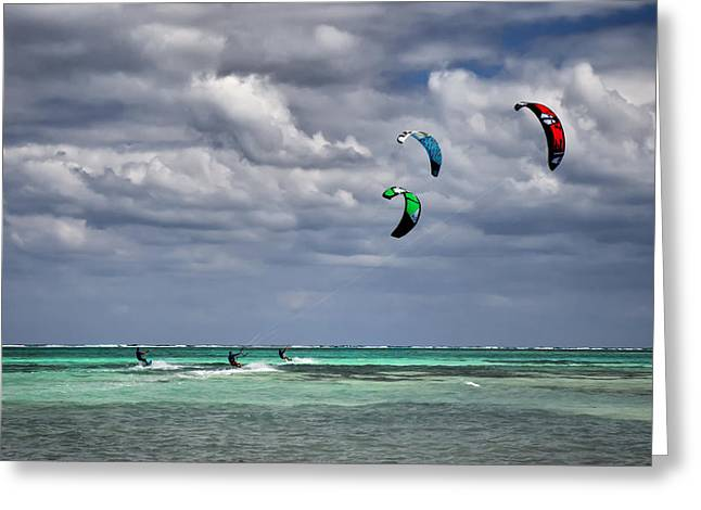 Kite Sufers Three Greeting Card by James Berry