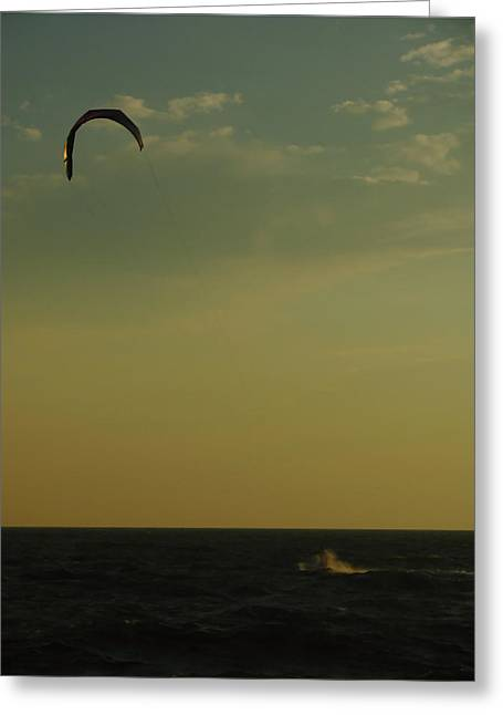 Kite Surfer Greeting Card by Juergen Roth