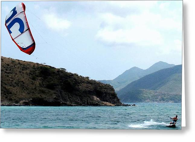 Kite Surfer St Kitts Greeting Card