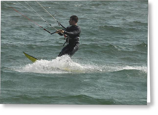Wind Surfing Print Greeting Cards - Kite Surfing 11 Greeting Card by Joyce StJames