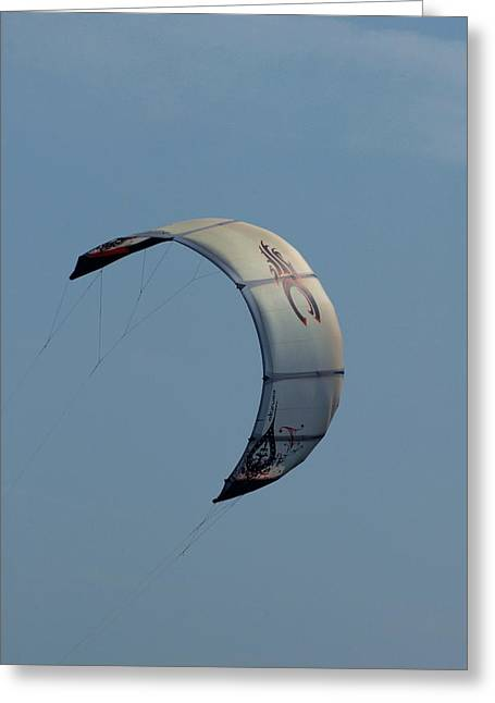 Wind Surfing Print Greeting Cards - Kite Surfing 12 Greeting Card by Joyce StJames