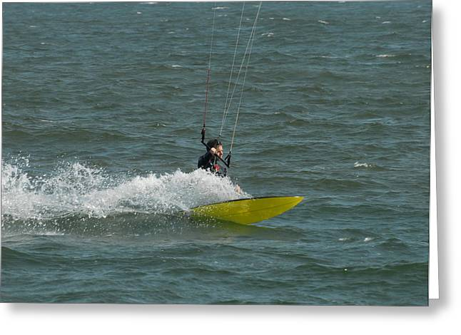 Wind Surfing Print Greeting Cards - Kite Surfing 18 Greeting Card by Joyce StJames