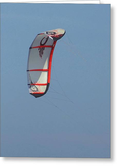 Wind Surfing Print Greeting Cards - Kite Surfing 19 Greeting Card by Joyce StJames
