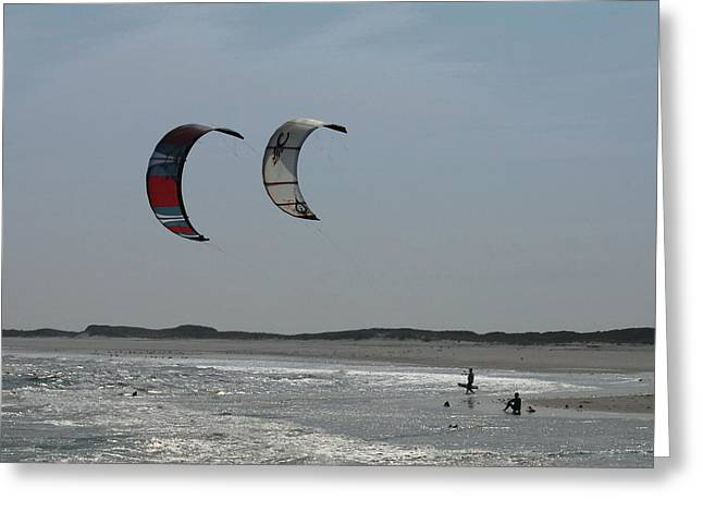 Wind Surfing Print Greeting Cards - Kite Surfing 6 Greeting Card by Joyce StJames