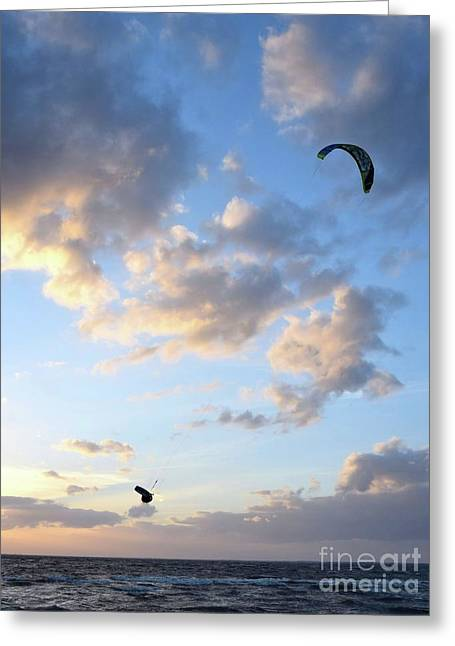Kite Surfing Flip 14702 Greeting Card by Anna Gibson
