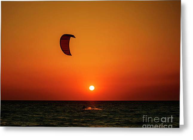 Kite Surfing Greeting Card by Jelena Jovanovic