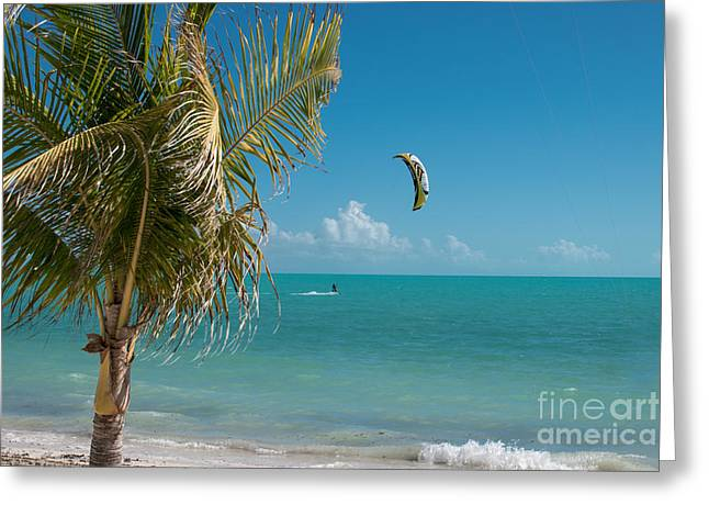 Kiteboarder In Turks And Caicos Greeting Card